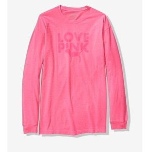 💕PINK Long Sleeve Campus Tee